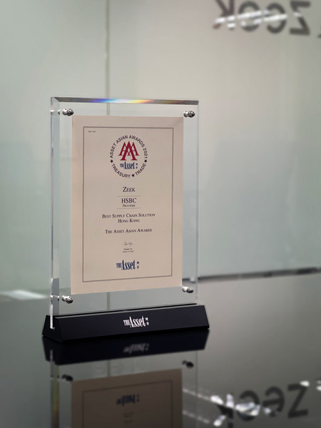 Zeek Scooped Triple A Treasury, Trade, SSC and Risk Management Awards 2021 Awarded Best Supply Chain Solution in New Economy.