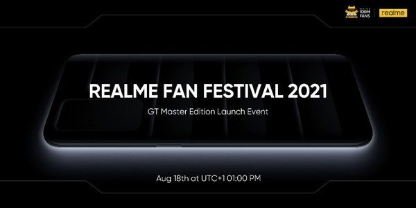 realme to Launch 100 Million Sales Milestone Product GT Master Edition Series and Other Product Lines on August 18