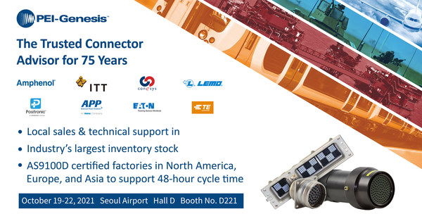 PEI-Genesis to showcase Aerospace and Defense Interconnect Solutions at Seoul ADEX 2021