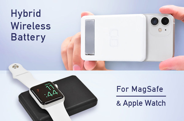CIO's newly launched power bank can be attached to iPhone 13 or iPhone 12 with its magnet, also it can charge your Apple watch at the same spot, which is never invented before.