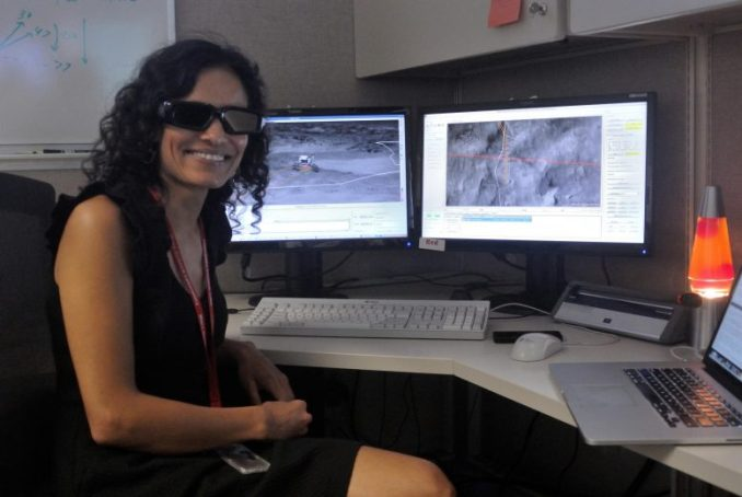 3D Glasses Used for Rover Driving
