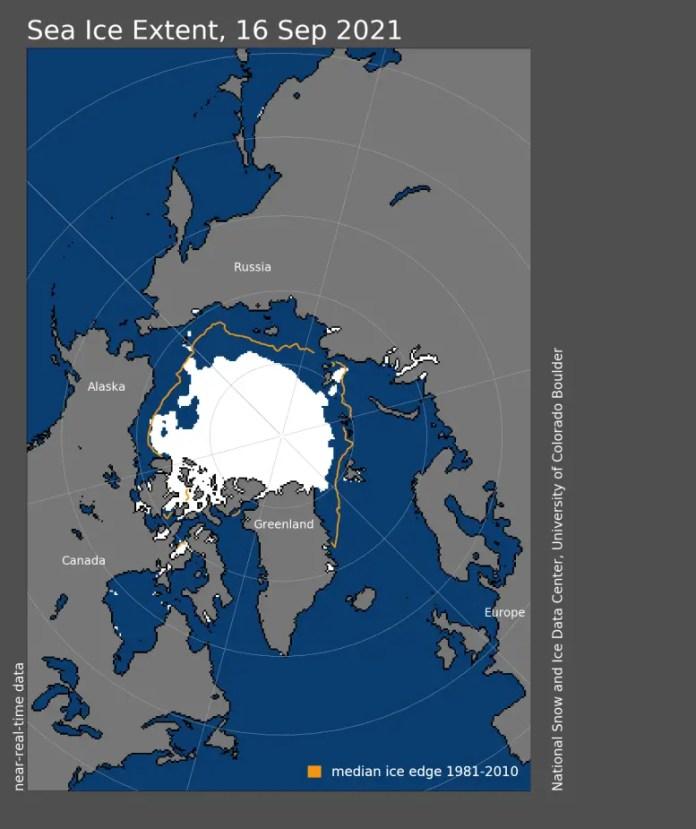 Arctic Sea Ice Minimum Extent 2021