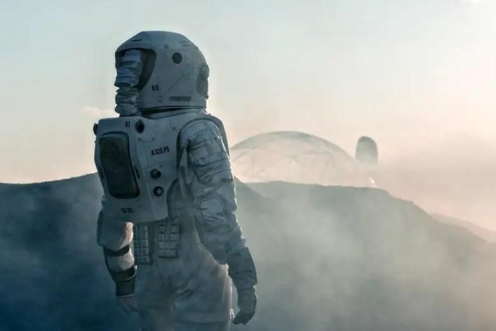 Mars Üssü'ndeki Astronot