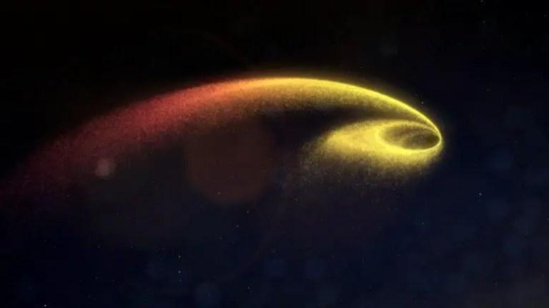Black Hole Gravitational Forces Break Star Apart