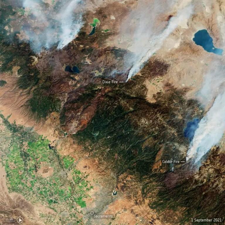 California Fires Copernicus Sentinel-2
