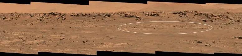 Crater floor fractured raw sample target