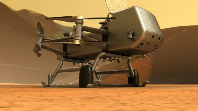 Dragonfly on Titan's Surface