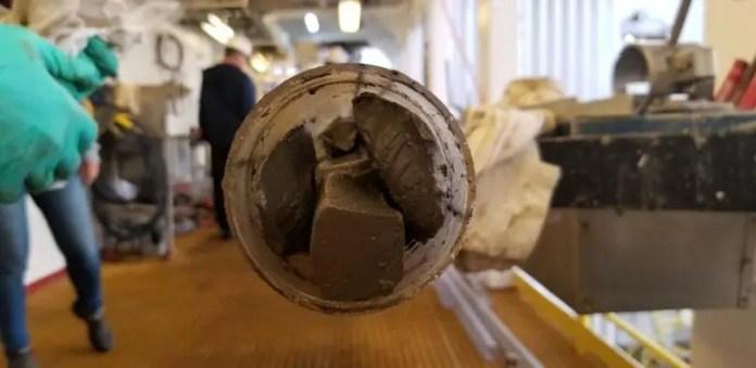 Drilled Ocean Sediment Core End
