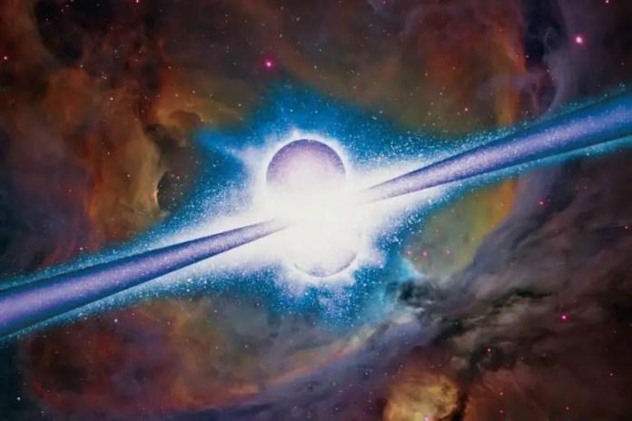Gamma Ray Burst Artist's Illustration