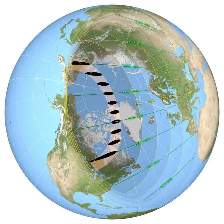 June 2021 Solar Eclipse Map