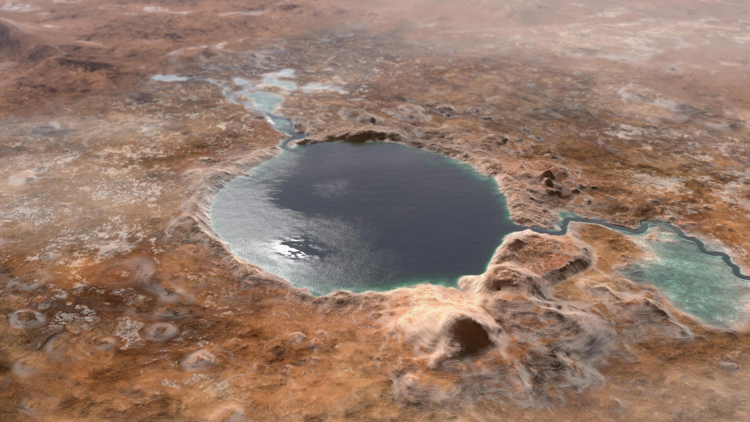 Jezero Crater – Landing Site of Mars Perseverance Rover – Was a Lake in Mars'  Ancient Past