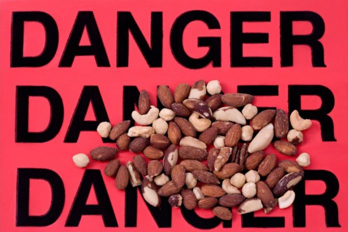Nut Allergy Concept