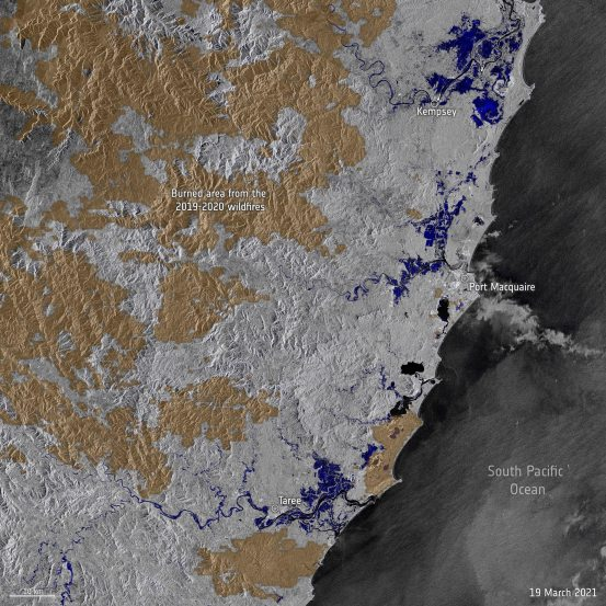 Capture floods in Australia mapped from space