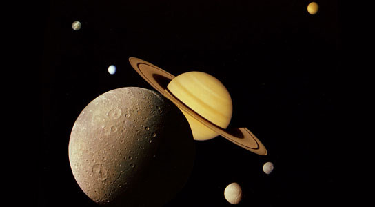 Saturnian system montage