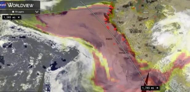 US West Wildfire Smoke Travel