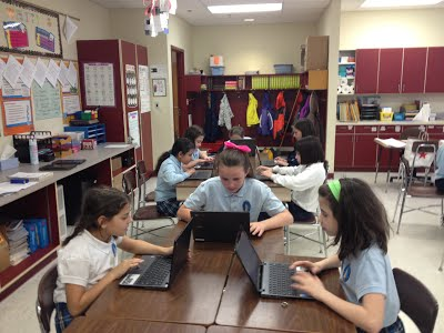 After-School Kids learning coding