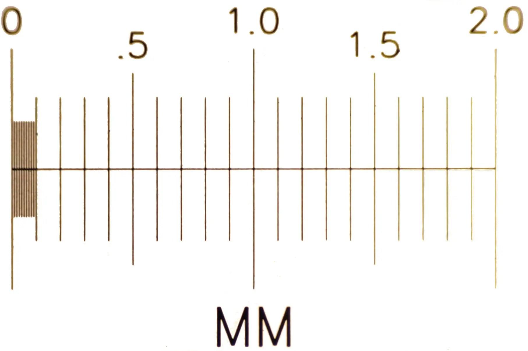 Slide Micrometer Using 4x Objective