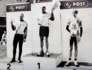 Tonni Johannsen nr 1 og Kim Ternstrøm nr. 2 på podiet i 1996.