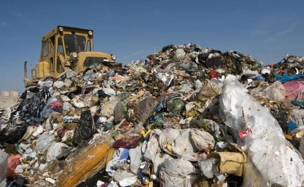 Garbage Mountain in landfill