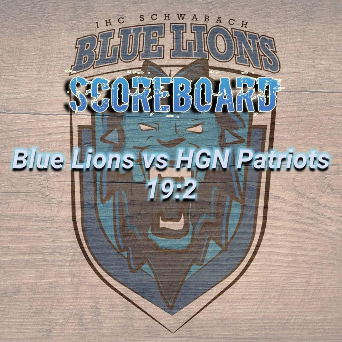 Lions zuhause vs. HGN Patriots