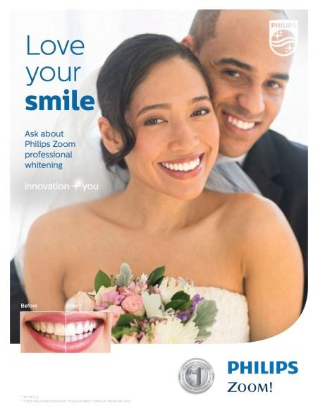Man and Woman on their wedding day enjoying their Whitest Teeth.