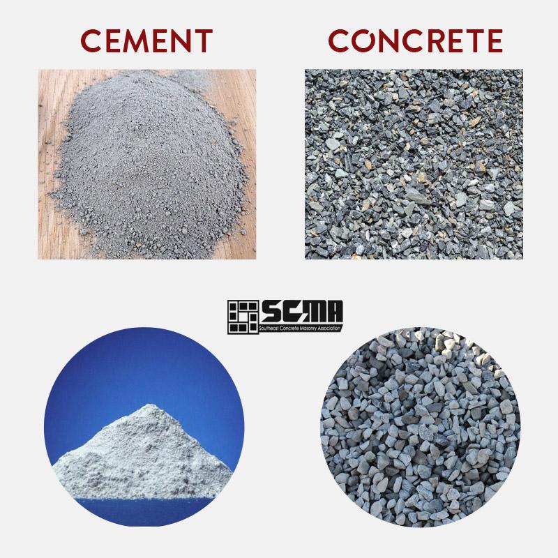 Concrete Vs Cement Scma