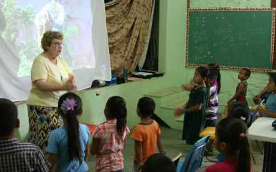 Vacation bible school in San Antonio, Belize, led by Sisters and volunteers