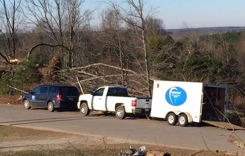 SCN volunteers respond to tornado destruction in Holly Springs