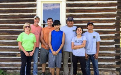 Volunteers visit the Crow Nation in Montana