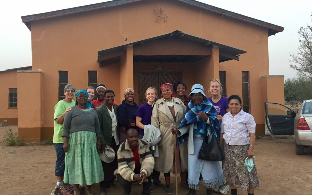 Volunteers finish project in Botswana
