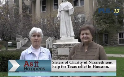 Disaster relief effort highlighted on local news program