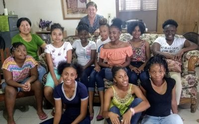 Young women gather in Belize