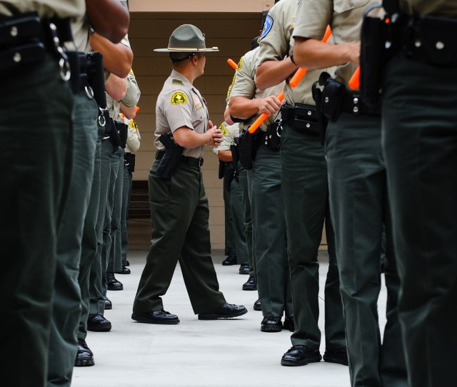 The San Bernardino County Sheriffs Departments Tactic Staff Trains Cadets Aspiring To Join Law Enforcement Agencies