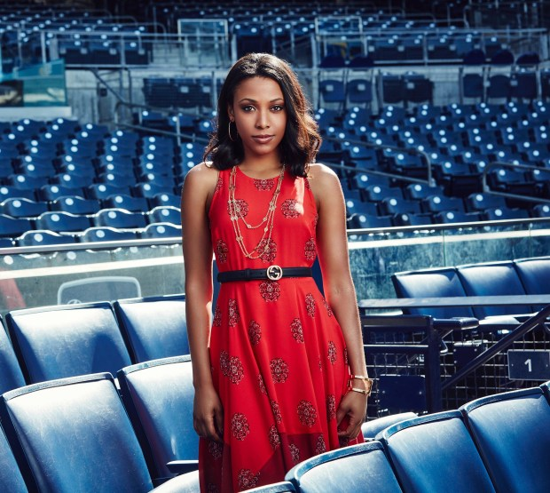 "Meagan Holder, a Cal State Fullerton theater alum, stars in the Fox series ""Pitch."" (Courtesy of Wes Klein)"