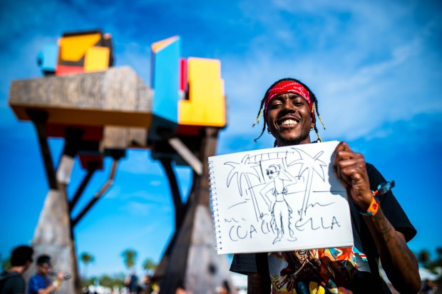 Donovan Downing, 30, of Los Angeles, attended his first Coachella Valley Music and Arts Festival on Sunday, April 16, 2017. He loved the music, the people, and, of course, the girls. (Photo by Watchara Phomicinda, The Press-Enterprise/SCNG)