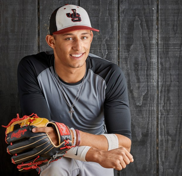 Royce Lewis is a JSerra Catholic High School baseball player who has led his team to a third consecutive championship in the Trinity League. Over the summer, he played in 2016 Under Armour All-American Game at Wrigley Field and the 2016 Perfect Game All-American Classic at Petco Park – being named MVP for both games. Photographed at JSerra Catholic High School in San Juan Capistrano on Wednesday, January 18, 2017. (Photo by Leonard Ortiz, Orange County Register/SCNG)