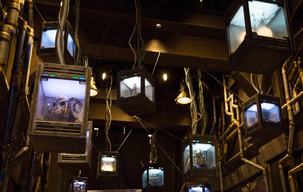 "The interior lobby area of Guardians of the Galaxy Ð Mission: BREAKOUT! as it will look at Disney California Adventure in this artist rendering. This is an area where ""The Collector"" is showing off his Tivan Collection to the people of Terra (Earth). This mysterious collection features objects that The Collector has gathered from around the galaxy. (Photo courtesy: The Disneyland Resort)"