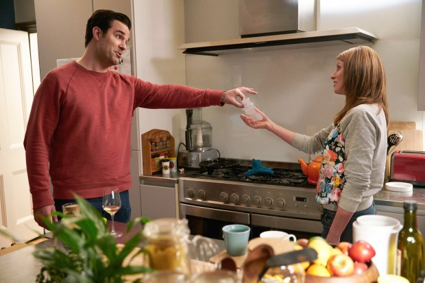 "Rob Delaney and Sharon Horgan in season three of ""Catastrophe"" on Amazon. (Photo courtesy of Amazon Prime Video)"