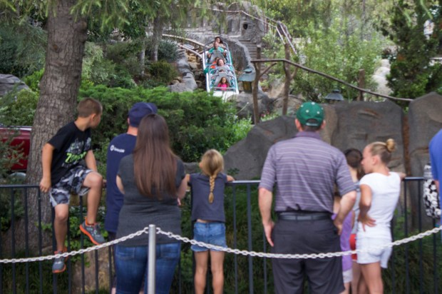 The Matterhorn Bobsleds is a very popular attraction, with a line that can wrap around the eastern side of the mountain. It will have a Fastpass capability beginning in May. The openness of the line and its length means that many times others try to cut in line. (Photo by Mark Eades, Orange County Register/SCNG)