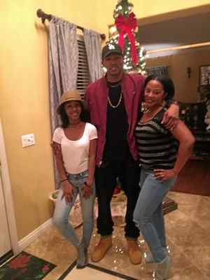 David Josiah Lawson is flanked by his mother, right, and younger sister. Lawson was fatally stabbed early Saturday morning, according to Arcata police. Michelle-Charmaine Lawson — Contributed