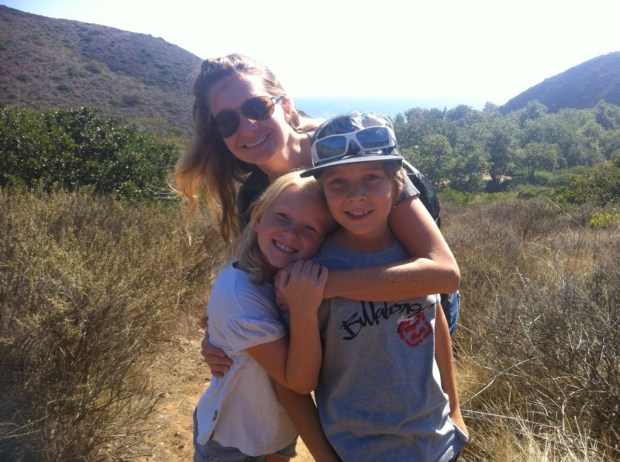Heather Skyler and her kids, Malcolm and Lux, back when they went on hikes together.