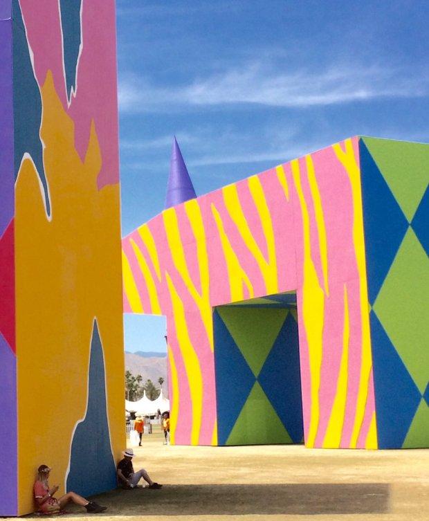 Art installations provide shade too at Coachella.