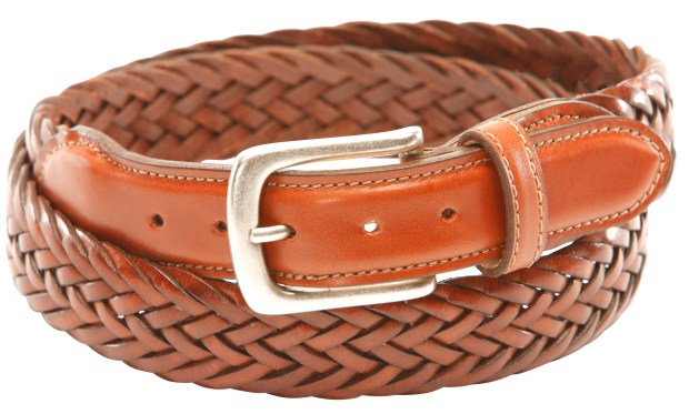 A Maxwell braided leather belt from TB Phelps is perfect for on the course or off.