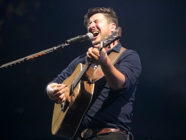 Mumford and Sons, shown here in 2015, will headline the second day of Arroyo Seco Weekend in Pasadena. (File photo by Armando Brown)