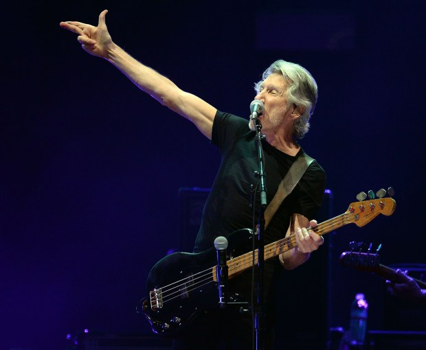 Roger Waters performs as he closes out the final night of Desert Trip Weekend 2 Sunday October 16, 2016 at the Empire Polo Club in Indio, Calif. (Will Lester-SCNG/Inland Valley Daily Bulletin)