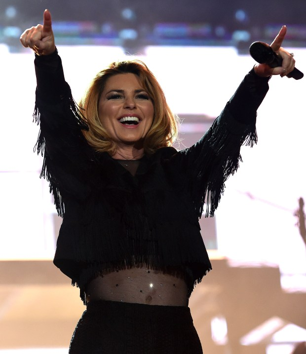 Shania Twain headlines on the Mane Stage Saturday April 29, 2017 on the second day of the Stagecoach Country Music Festival at the Empire Polo Club in Indio. (Photo by Will Lester-Inland Valley Daily Bulletin/SCNG)
