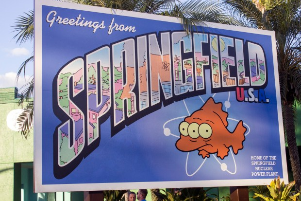 """Springfield is the home of The Simpsons, and is based on """"The Simpsons"""" television show at Universal Studios Florida. (Photo by Mark Eades, Orange County Register/SCNG)"""