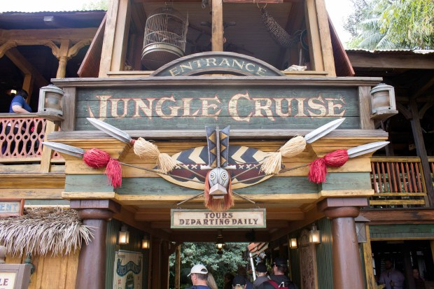 """The jokes that make you groan on the """"World Famous"""" Jungle Cruise will be the basis of a planned movie based on the Disneyland ride starring Dwayne """"The Rock"""" Johnson. (File photo by: Mark Eades, Orange County Register/SCNG)"""
