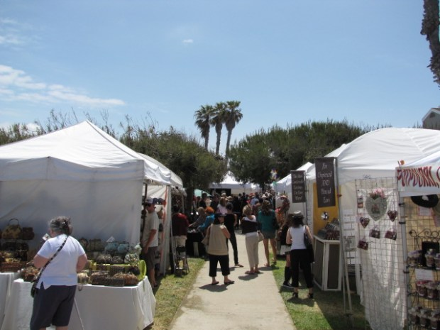 More than 100 vendors and artisans with hand-crafted arts and crafts gather for the Sunset Beach Art Festival, on the greenbelt along Pacific Ave. / COURTESY MOLLY BOUNDS