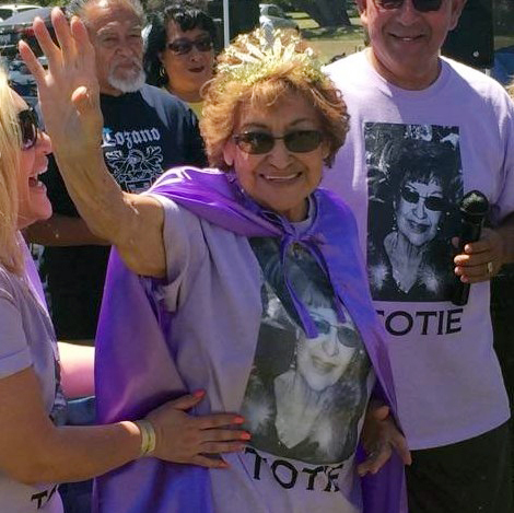"""At 90, Josephine """"Totie"""" Hernandez was crowned the oldest living Lozano relative at the Lozano reunion on April 29, 2017, at Rancho Jurupa Park in Jurupa Valley. Courtesy photo"""